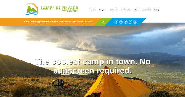 Campfire Nevada – 100% Documented WordPress Theme