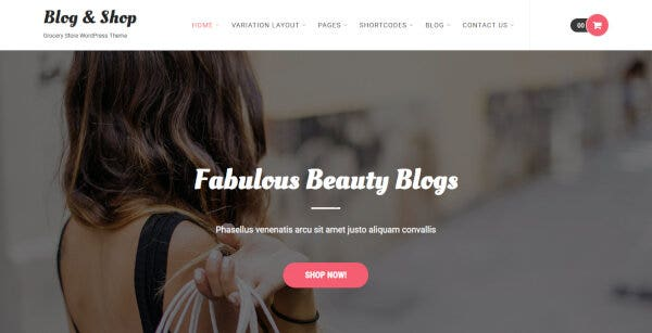 Blog and Shop – No Coding Required WordPress Theme