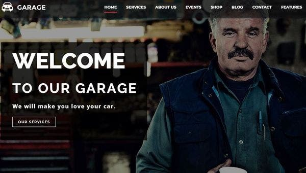 Garage - MailChimp integrated WordPress Theme