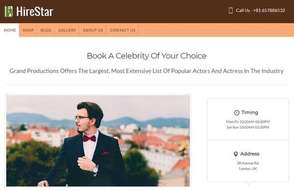 HireStar – Booking WordPress Theme