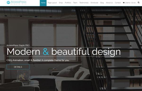 Staple Pro – Stats Bar WordPress Theme