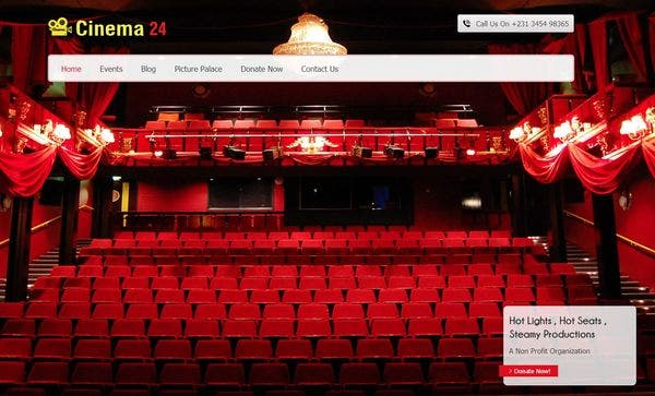 Cinema24 – Colum Feature Compatible WordPress Theme