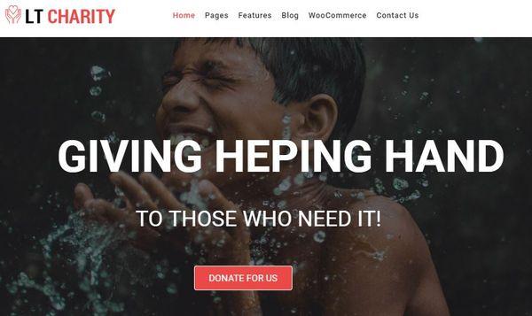 LT Charity – Portfolio WordPress Theme
