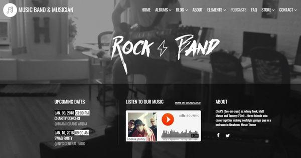 Music – Modules Integrated WordPress Theme