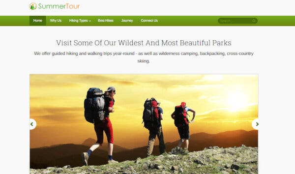 22 hiking wordpress theme – just another inkthemes network demo sites site