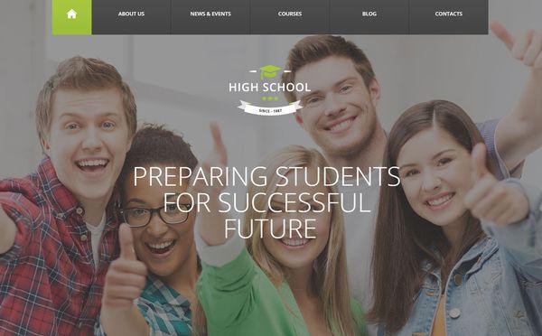 High School – Cherry WordPress Theme