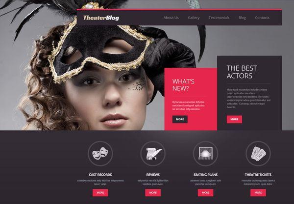 Theatre – Fully Editable WordPress Theme