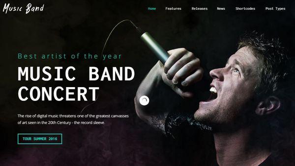 Music Band – Custom Audio Player WordPress Theme