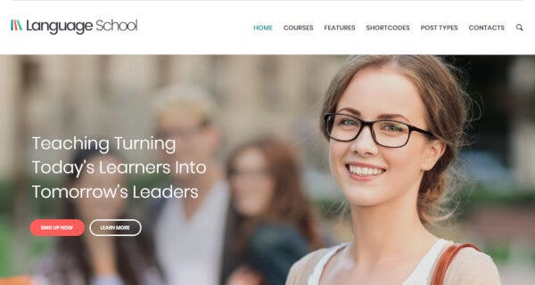 Language School – Quiz Ready WordPress Theme