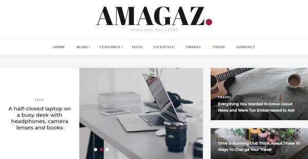 Amagaz – Theme Options Panel WordPress Theme