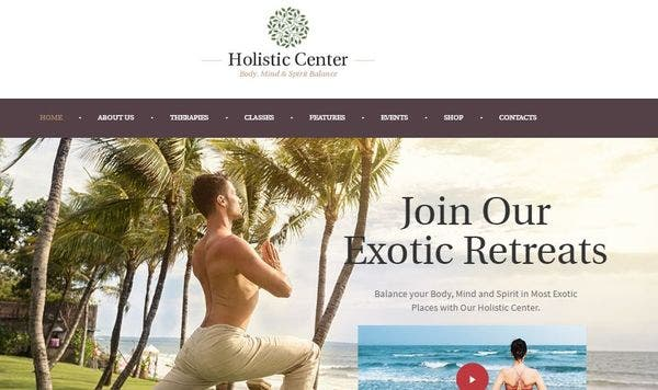 Holistic Center – Plugins Powered WordPress Theme