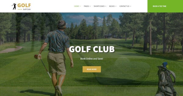 SKT Golf -SEO Compatible WordPress Theme