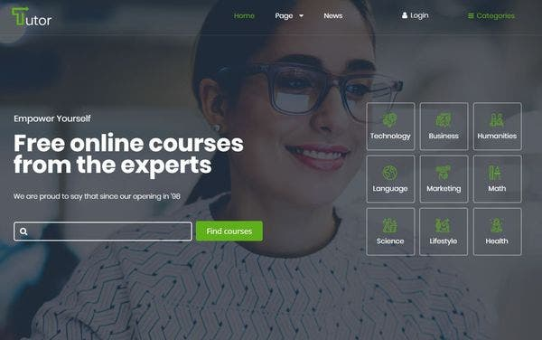 Tutor – Visual Editor WordPress Theme