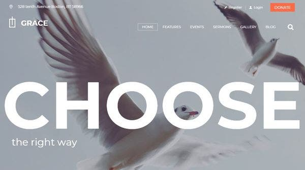 Grace – Events Calendar Compatible WordPress Theme