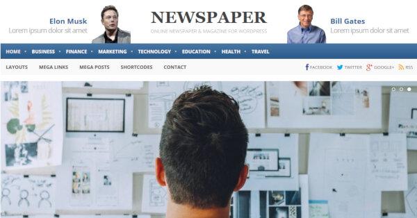 Newspaper – MegaMenu WordPress Theme