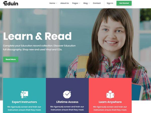 Eduin - Font Awesome WordPress Theme