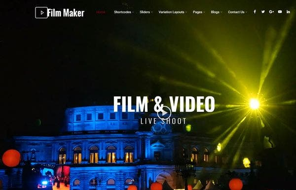 FilmMaker – SKT Page Builder Optimized WordPress Theme