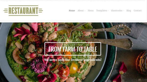 Restaurant – Full-width Slideshow WordPress Theme