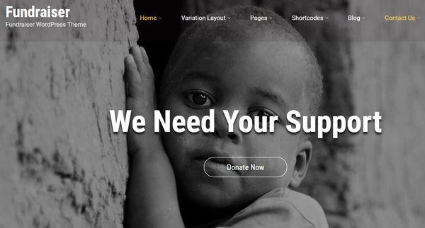 Fundraiser – Customizable WordPress Theme
