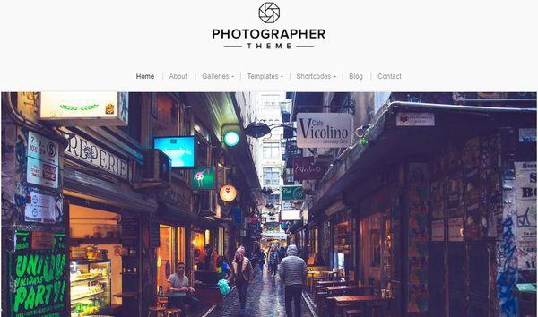Photographer – WooCommerce Compatible WordPress Theme