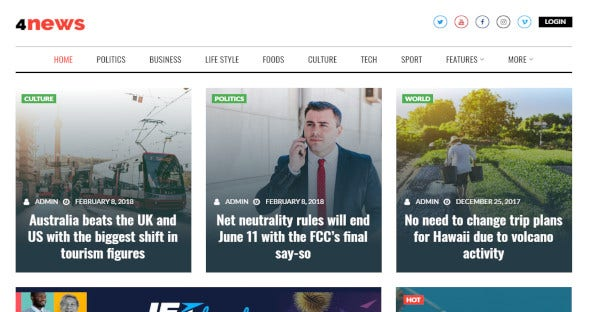 4news jet bog plugins wordpress theme