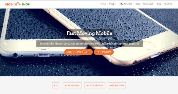 5 mobile supermarket wordpress theme – just another demo theme sites site1