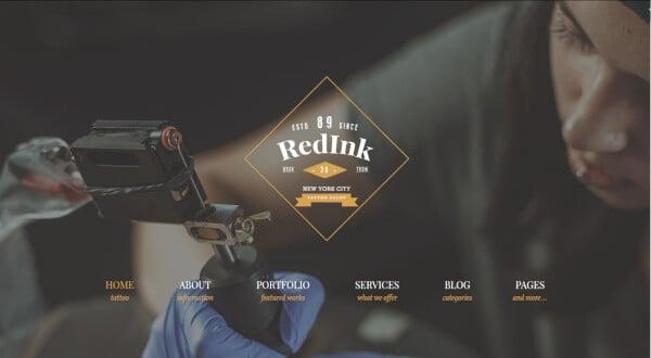 5 redink – drag and drop wordpress theme1