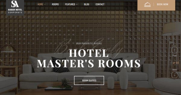 5 sailing – wordpress hotel theme for hotel booking