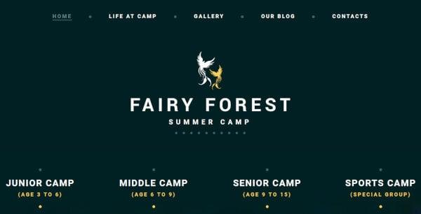 Fairy Forest – Parallax WordPress Theme