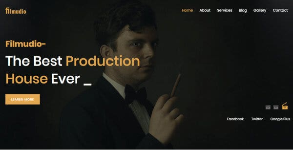 6 filmudio – movie production film studio creative entertainment wordpress theme