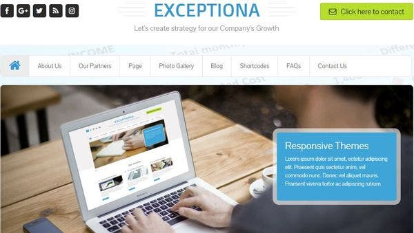 Exceptiona – Multiple Google Fonts Supported WordPress Theme
