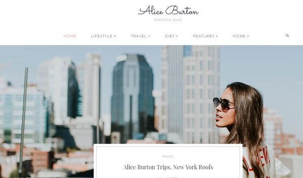 Alice Burton – Responsive WordPress Theme