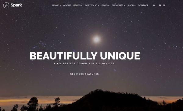 Spark – Retina Ready WordPress Theme