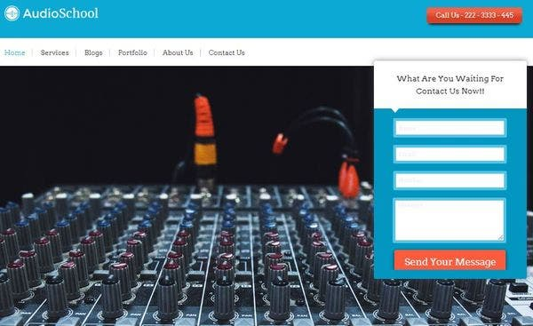 Audio School – Full-width Slider WordPress Theme