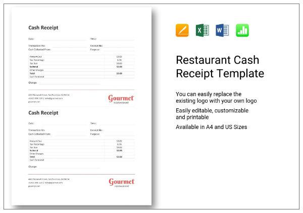 676 restaurant cash receipt 1