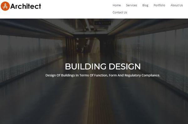 Architect – Breadcrumb Background WordPress Theme