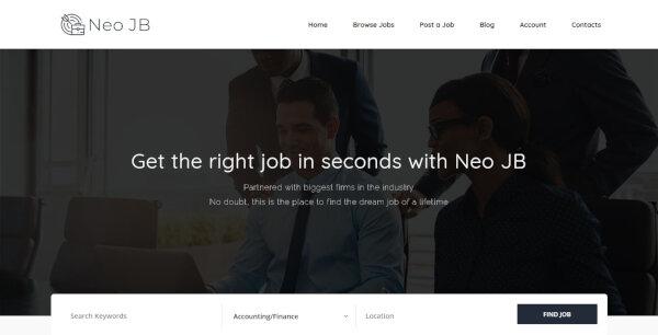 7 neo job board job seeking wordpress theme