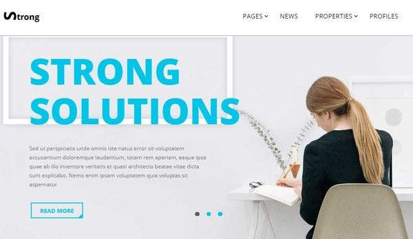 Strong – Front-End Design Tool WordPress Theme