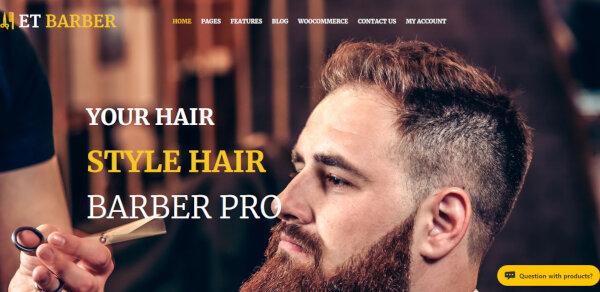 ET Barber - MegaMenu Generator Incorporated WordPress Theme