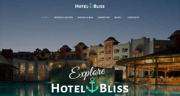 Hotel Bliss – Service Section WordPress Theme