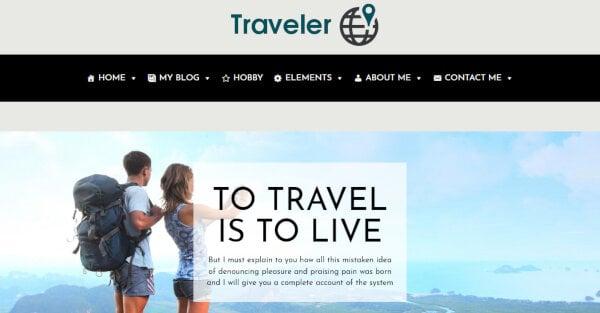 Traveler – QuickStart Installation WordPress Theme
