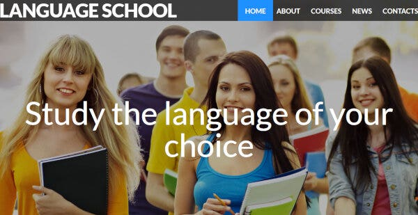Language School – Portfolio WordPress Theme