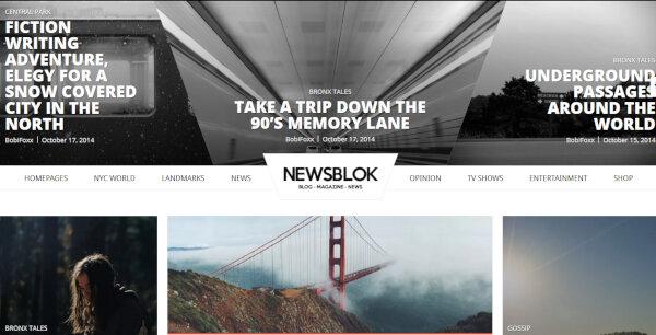 NewsBlok – Live Preview WordPress Theme