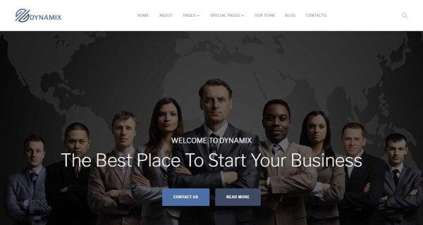 Dynamix – GPL 3 License Accredited WordPress Theme