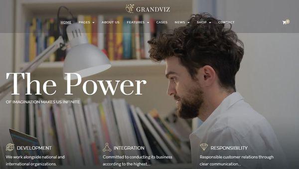 Grandviz – Cherry Framework WordPress Theme