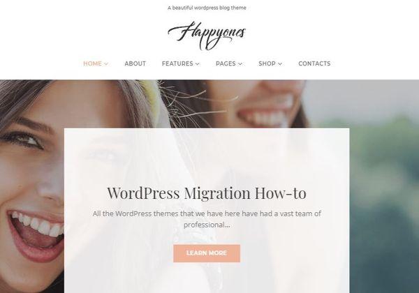Happyones – Plugins Powered WordPress Theme