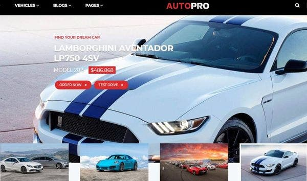 AutoPro -Twitter Bootstrap Powered WordPress Theme