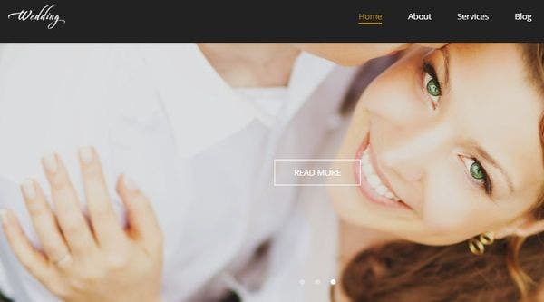Wedding – Bootstrap WordPress Theme