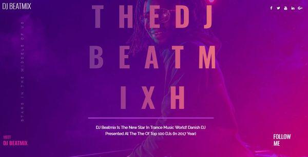 DJ Beatmix – JetMenu WordPress Theme
