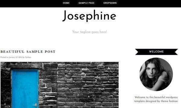 Josephine – Customizable WordPress Theme